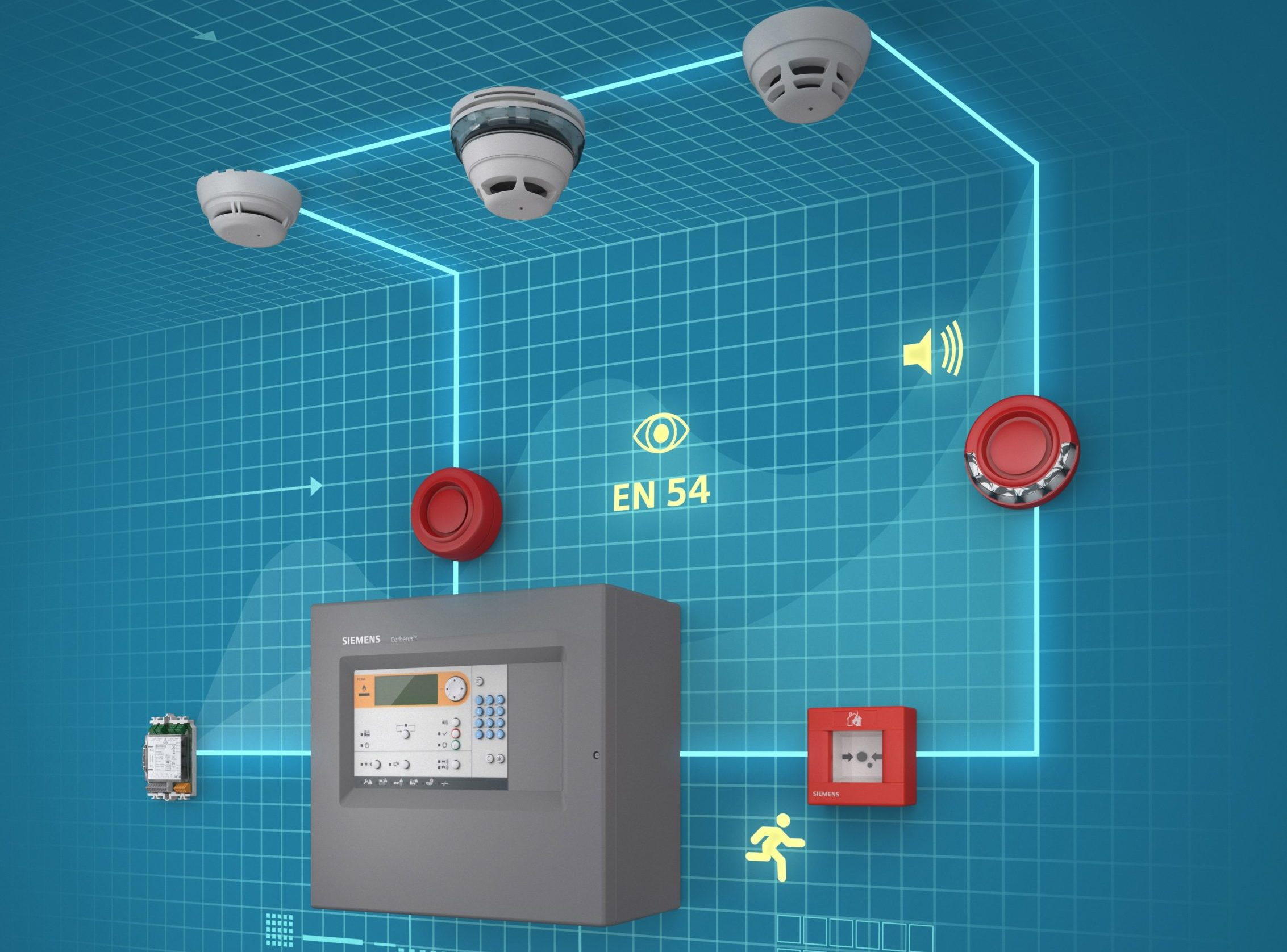 Siemens' fire protection system